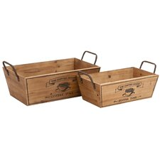 <strong>Woodland Imports</strong> 2 Piece Tabletop Wine Rack Set