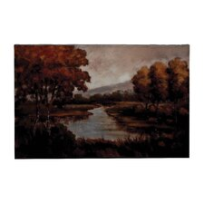 """Trees and River"" Canvas Art Wall Décor"
