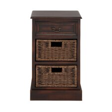 American Styled Woodland 3 Drawer Basket Chest