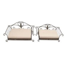 <strong>Woodland Imports</strong> 2 Piece Hiltons Fancy Elegant Dog Bed Set