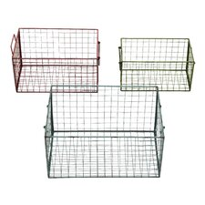 <strong>Woodland Imports</strong> 3 Piece Wire Basket Set