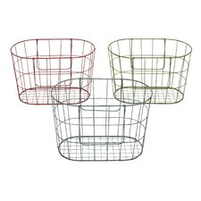 Vintage French Market Baskets (Set of 3)
