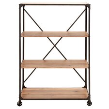 Portable Metal Wood Shelf