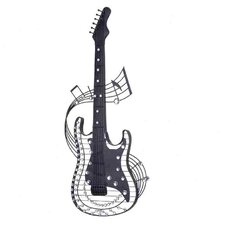 Metal Acrylic Guitar Wall Decor