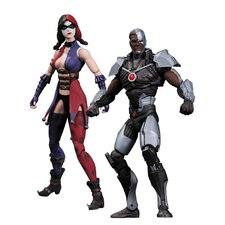 DC Comics Injustice: Gods Among Us Cyborg vs Harley Quinn Action Figure (Set of 2)