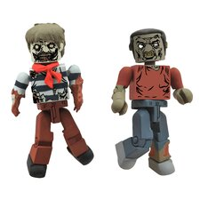 The Walking Dead Minimates Series 2: Roamer Zombie (Set of 2)