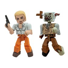 The Walking Dead Minimates Series 2: Andrea and Zombie Lurker (Set of 2)