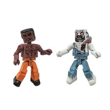 The Walking Dead Minimates Series 3: Tyreese and Farmer Zombie (Set of 2)