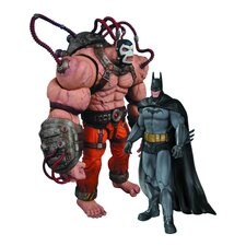 Batman Arkham City 2 Piece Batman Vs. Bane Action Figure Set