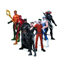 DC The New 52 7 Piece Super Heroes Vs. Super Villains Action Figure Set