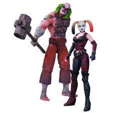 Batman Arkham City 2 Piece Mr. Hammer and Harley Quinn Action Figure Set
