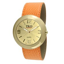 Women's TK616 Leather Slap Watch