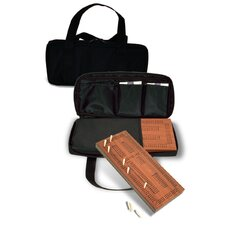 Traveling Triple Track Cribbage Set with Carrying Case