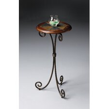 Metalworks Slate Inlay End Table
