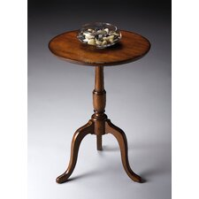Old World Cherry Round End Table