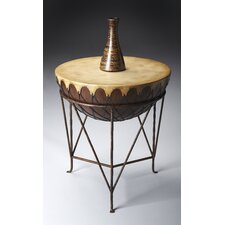 Mountain Lodge Drum End Table