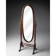 Plantation Cheval Mirror in Distressed Cherry