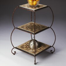 Metalworks Etagere in Distressed Textured Copper