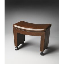 Loft Bradford Caster Leather Stool