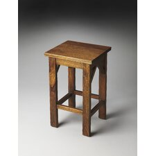 Mountain Lodge Hubbard Solid Wood Backless Bar Stool