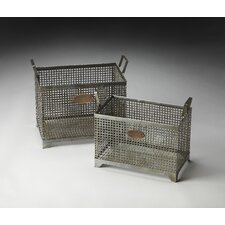 Hors D'oeuvres Rowley Iron Storage Baskets (Set of 2)