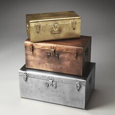 Hors D'oeuvres 3 Piece Spirit Iron Storage Trunks Set
