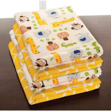 <strong>Kids Line</strong> Happy Tails Receiving Blanket (Set of 4)