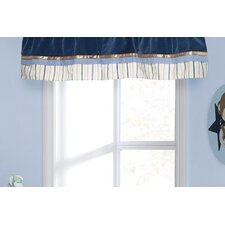 <strong>Kids Line</strong> Monkey Rockstar Rod Pocket Ruffled Curtain Valance
