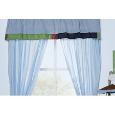 All Sports Rod Pocket Ruffled Curtain Valance