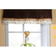 <strong>Kids Line</strong> Sunny Safari Rod Pocket Ruffled Curtain Valance