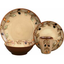 <strong>Sango</strong> Vineyard 16 Piece Dinnerware Set