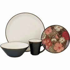<strong>Sango</strong> Signature Primrose 16 Piece Dinnerware Set