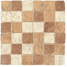 "<strong>Florim USA</strong> Copper Ridge 12"" x 12"" Glazed Porcelain Mosaic"