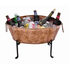 Embossed Steel Beverage Tub Set