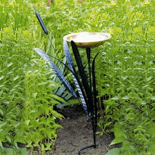 <strong>ACHLA</strong> Single Cattail Birdbath