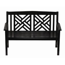 <strong>ACHLA</strong> Fretwork Entryway Wood Garden Bench