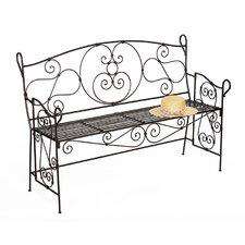 Ferro Firenze Entryway Wrought Iron Garden Bench