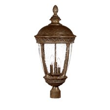 "<strong>Acclaim Lighting</strong> Fleur de Lis 3 Light 13"" Outdoor Post Lantern"