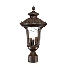 "Augusta 3 Light 9.25"" Outdoor Post Lantern"
