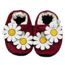 Dual Daisy Suede Soft Sole Leather Baby Shoes