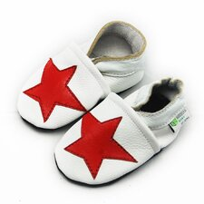 Star Soft Sole Leather Baby Shoes