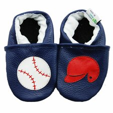 <strong>Augusta Baby</strong> Baseball and Helmet Soft Sole Leather Baby Shoes