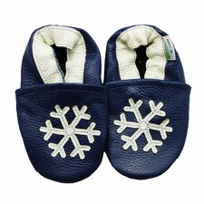 <strong>Augusta Baby</strong> Snowflake Soft Sole Leather Baby Shoes