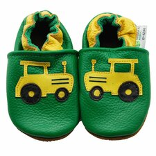 Farm Tractor Soft Sole Leather Baby Shoes