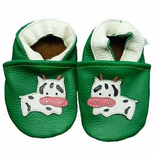 <strong>Augusta Baby</strong> Moo Cow Soft Sole Leather Baby Shoes