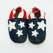 <strong>Augusta Baby</strong> American Flag Soft Sole Leather Baby Shoes