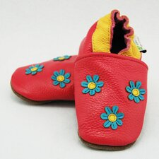 3 Flower Soft Sole Leather Baby Shoes