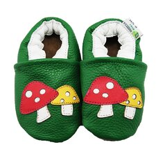 Mushrooms Soft Sole Leather Baby Shoes