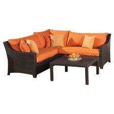 Tikka 4 Piece Deep Seating Group with Cushions