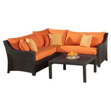 Tikka Deco 4 Piece Deep Seating Group with Cushions